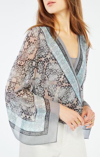 Kasia Blossoms Print Wrap Top