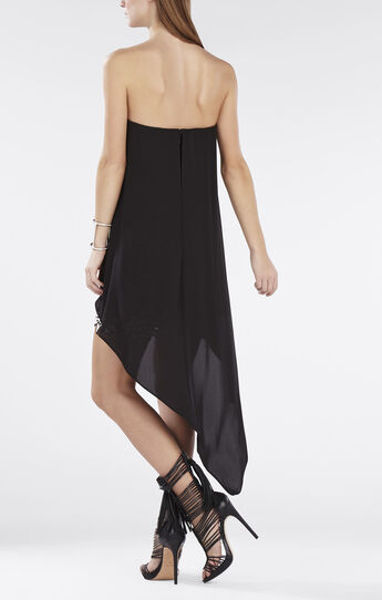 Krystin Strapless Asymmetrical-Hem Dress