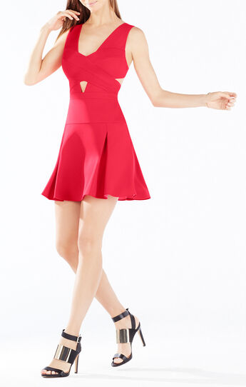 Harlie Cutout Fit-And-Flare Dress