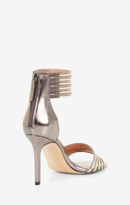 Valai Metallic Leather Sandal