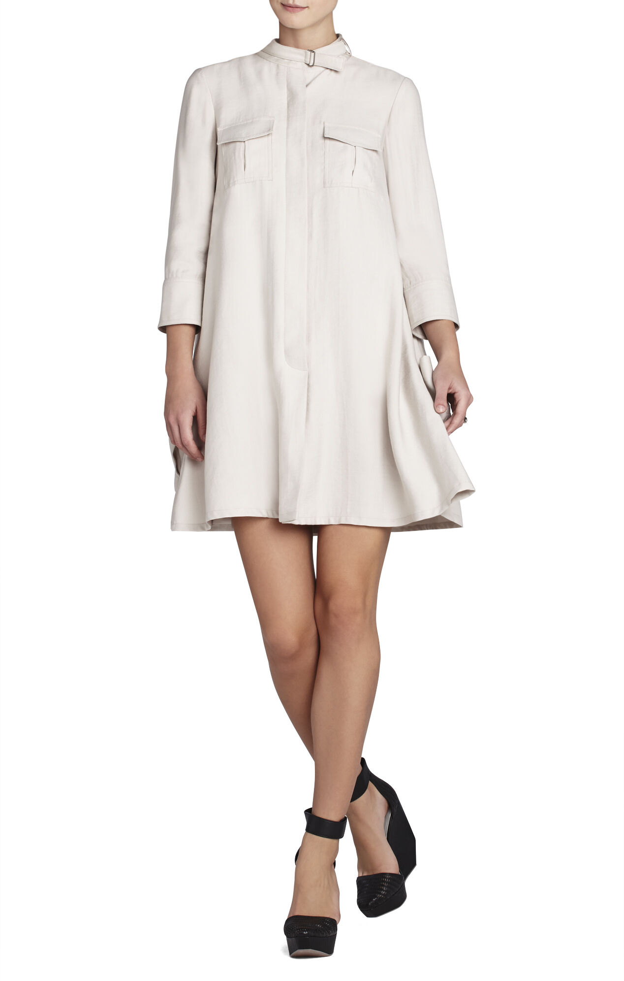 Emilee Cargo-Pocket Shirt Dress