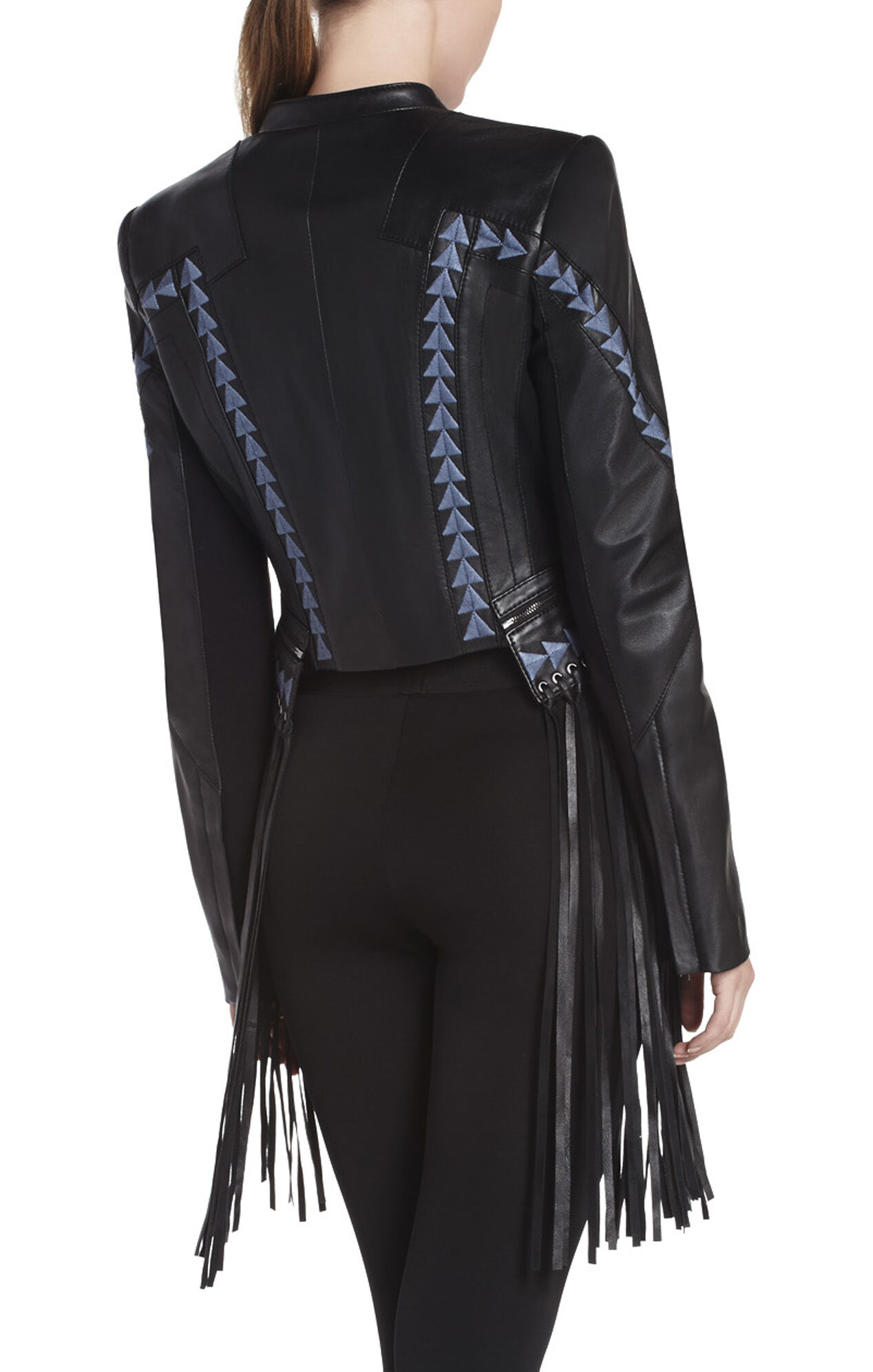 Grant Fringed Leather Jacket