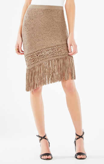 Bertha Asymmetrical Fringe Skirt