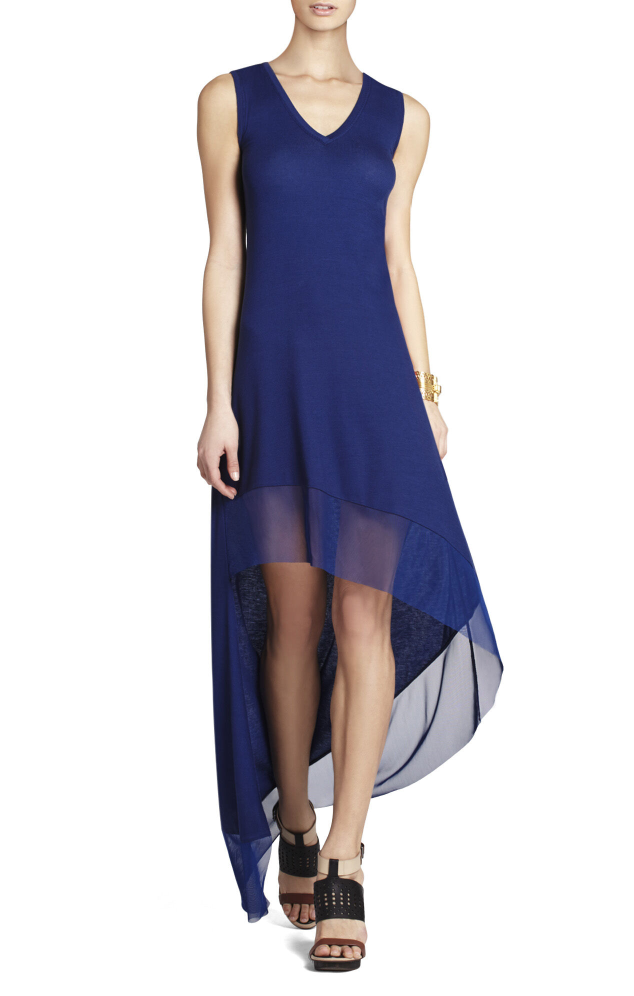 Kendall V-Neck Dress With Asymmetrical Hem