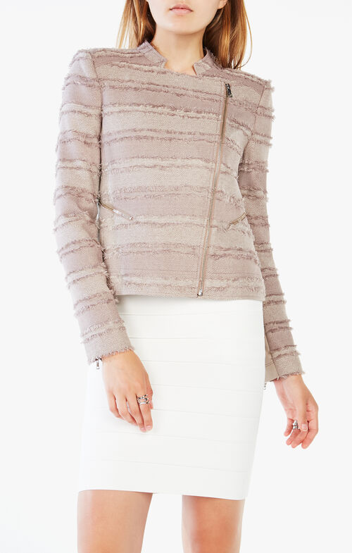 Jaison Striped Fringe Jacket