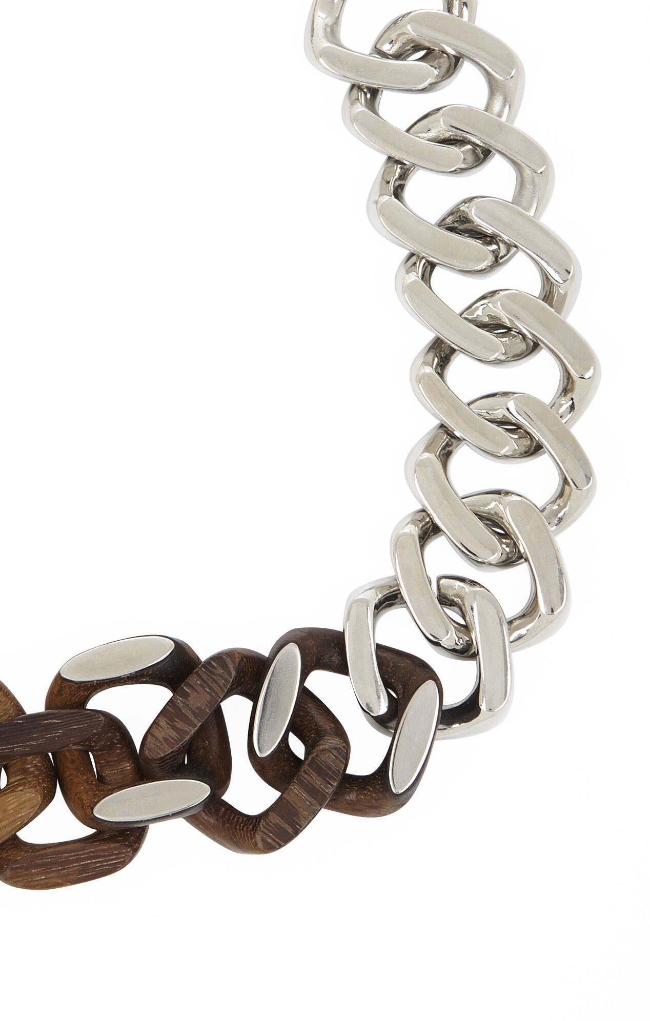 Chunky Wood-Chain Necklace