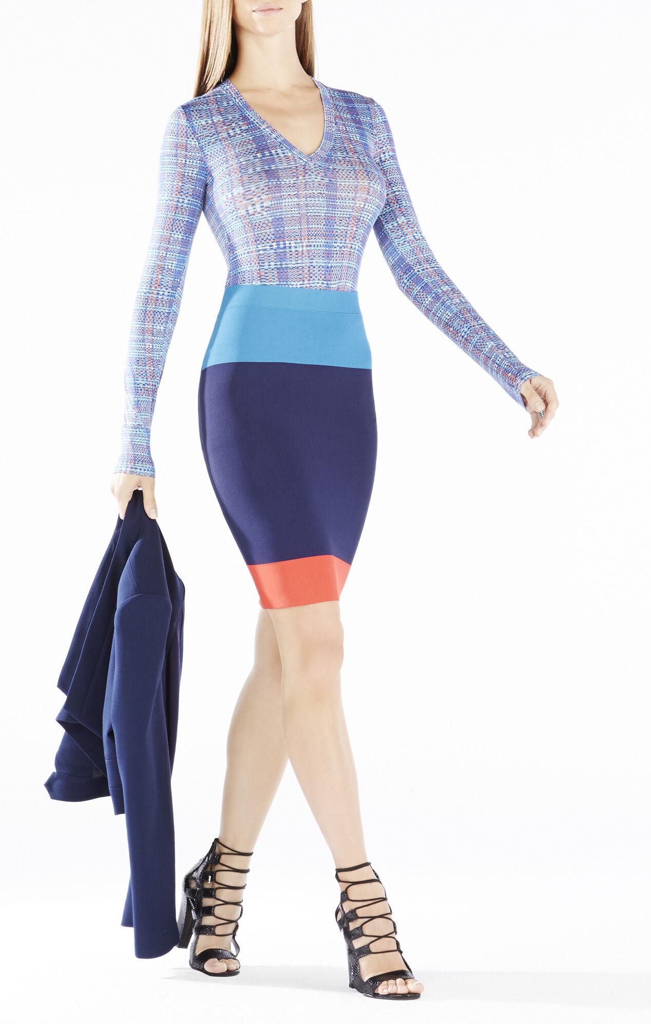 Scarlett Color-Blocked Pencil Skirt