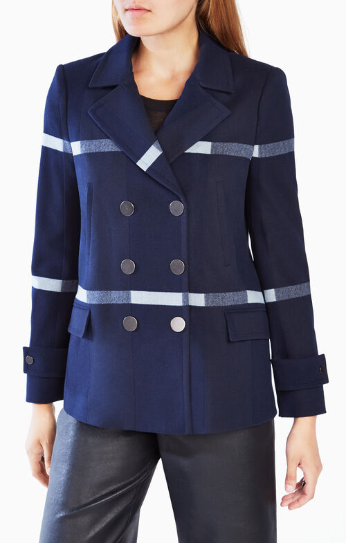 Tucker Striped Peacoat
