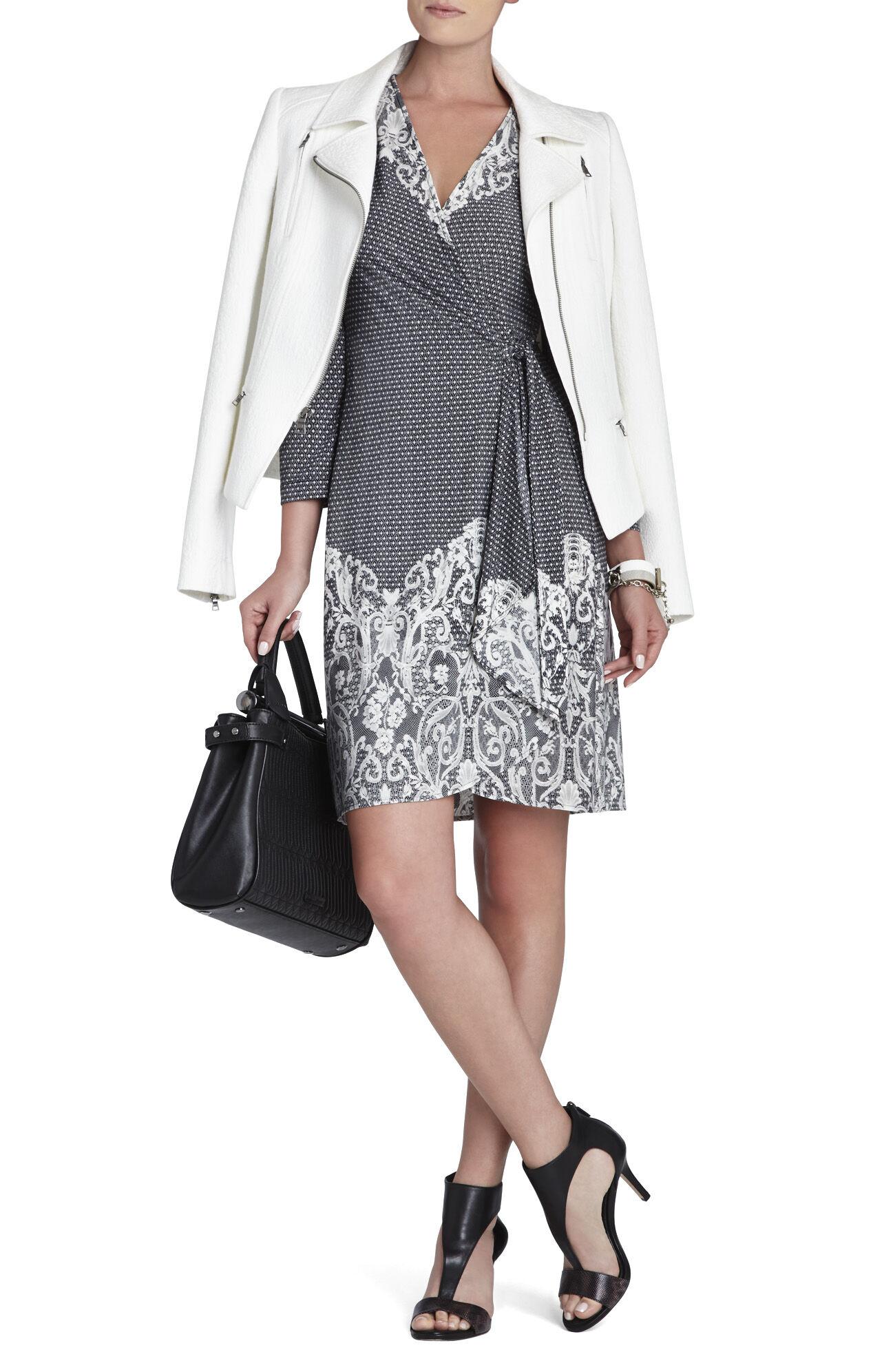 Adele Lace-Printed Wrap Dress