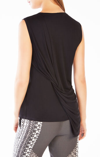 Mira Twist-Back Asymmetrical Top
