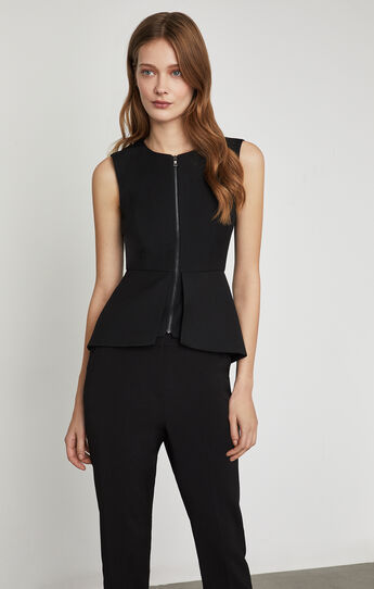 Abrielle Sleeveless Peplum Top