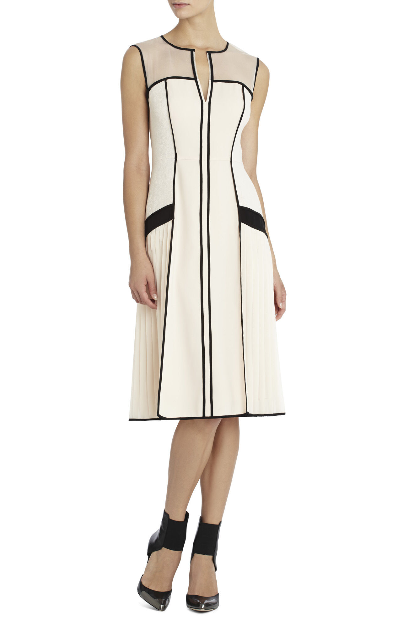 Runway Kendra Pleated-Panel Dress
