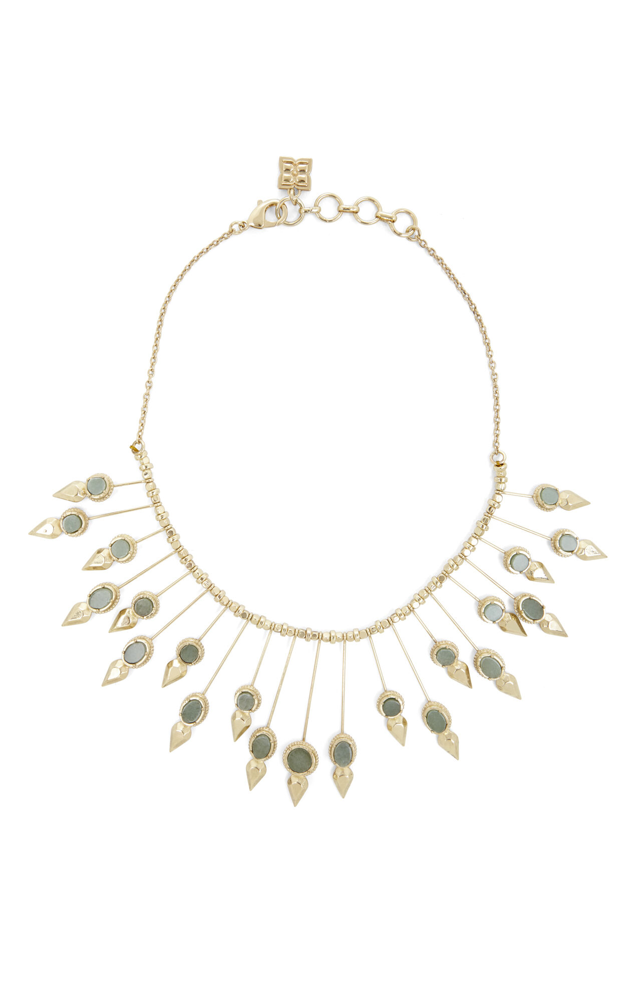 Natural-Stone Sunburst Necklace