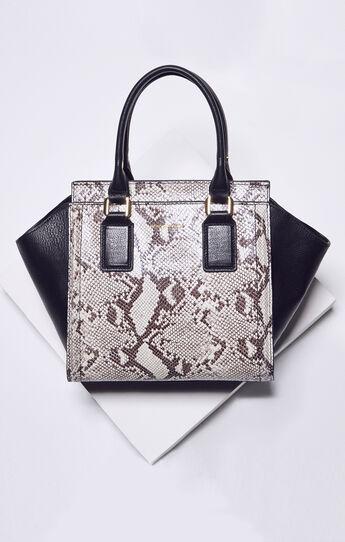 Joslyn Snake Print Leather Satchel