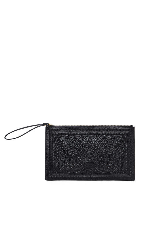 Jordy Stitched Faux-Leather Clutch