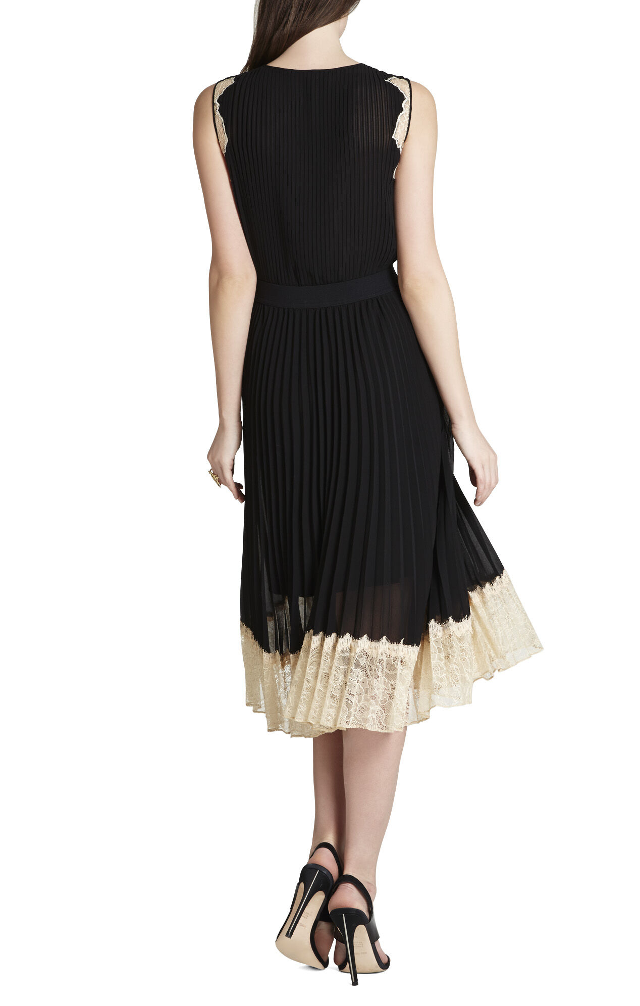 Khloe Sleeveless Pleated Dress