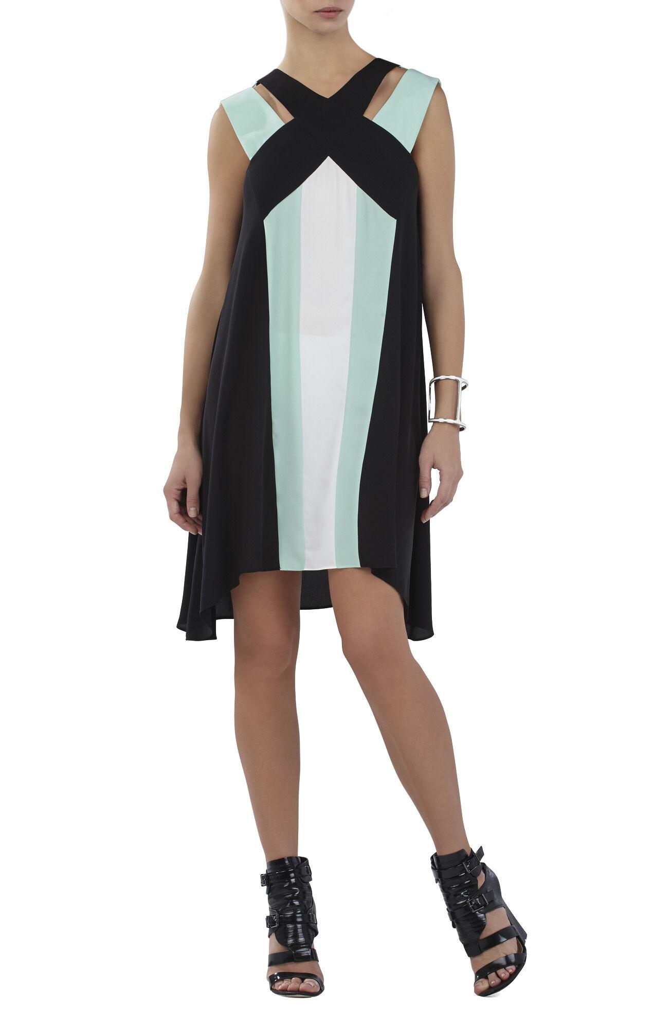 Chantal Crossover Neckline Dress