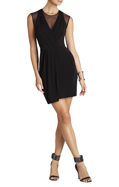 Kaia Pleated Jersey Dress