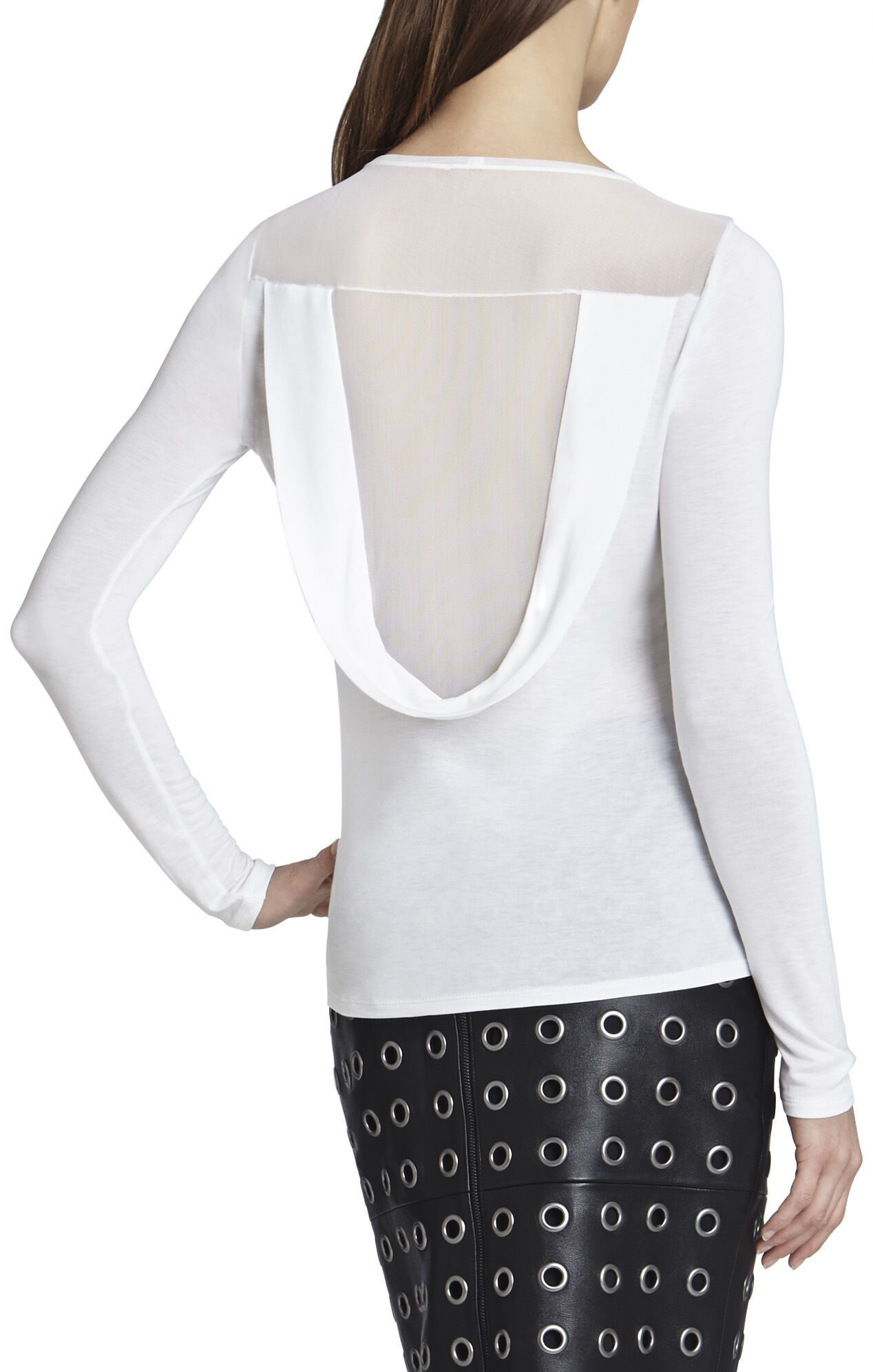 Harden Long-Sleeve Draped-Back Top