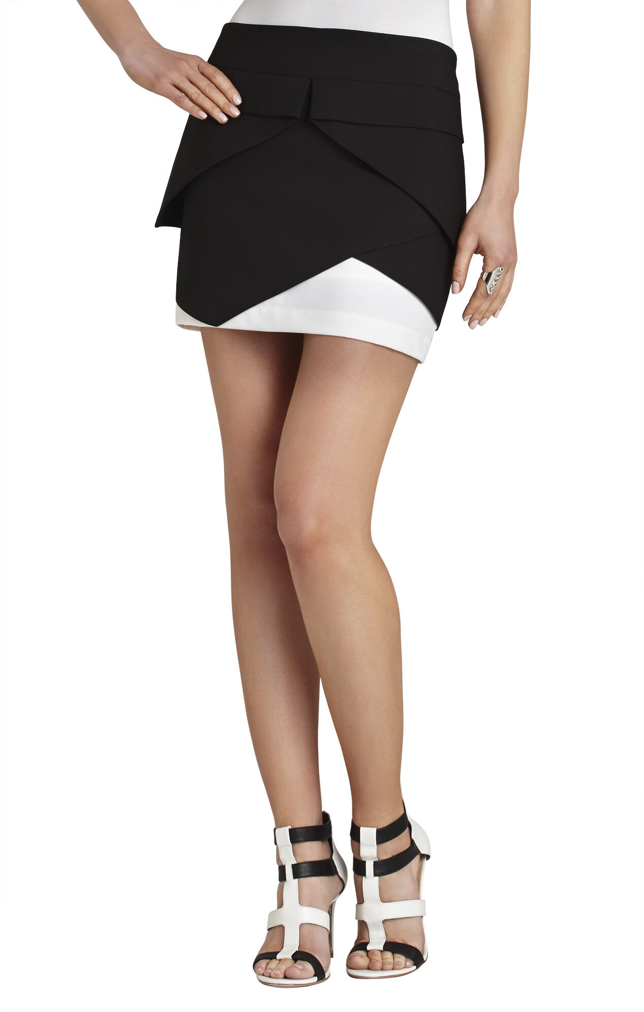 Claire Color-Blocked Layered Skirt