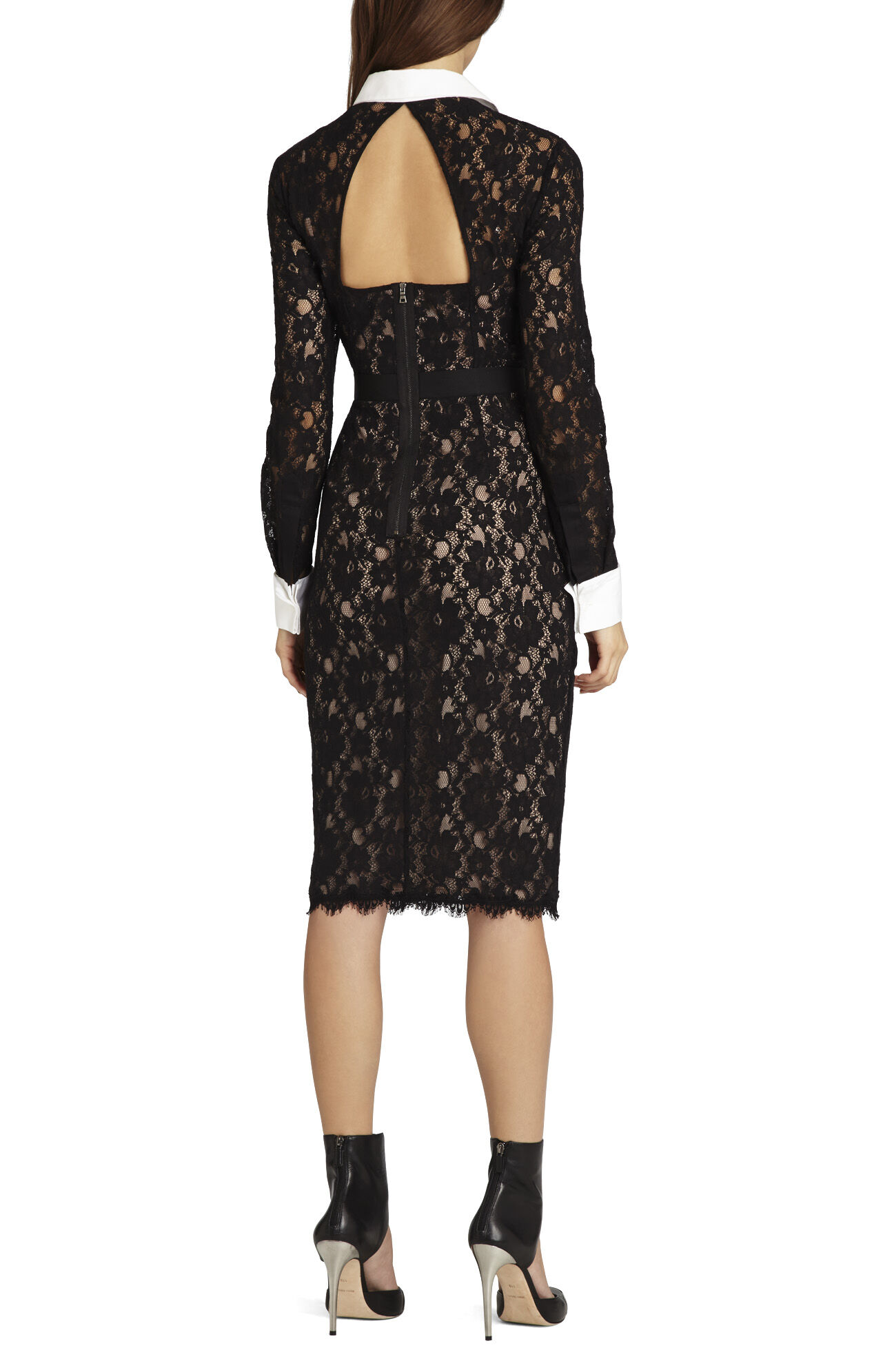 Olga Fitted Lace Shift Dress