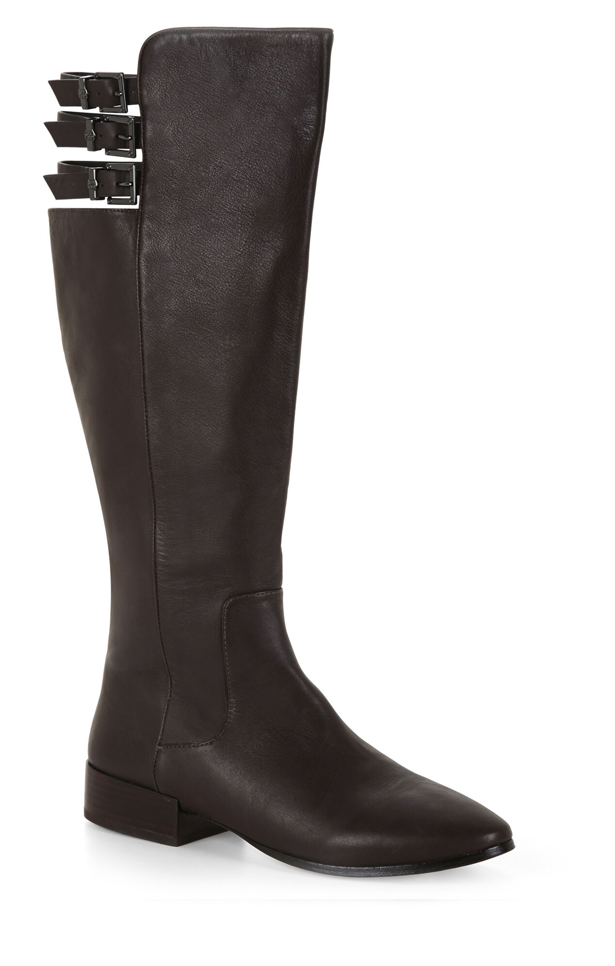 Central Croc-Quilted Riding Boot