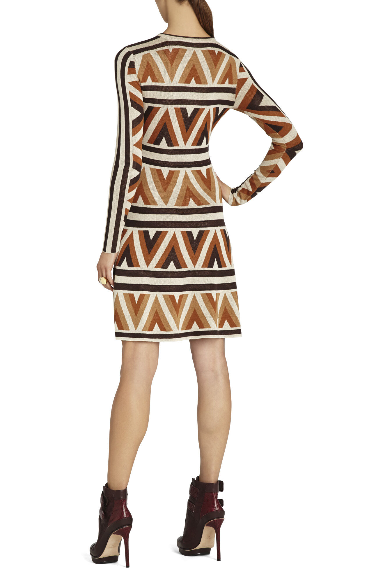 Malina Zigzag A-Line Dress