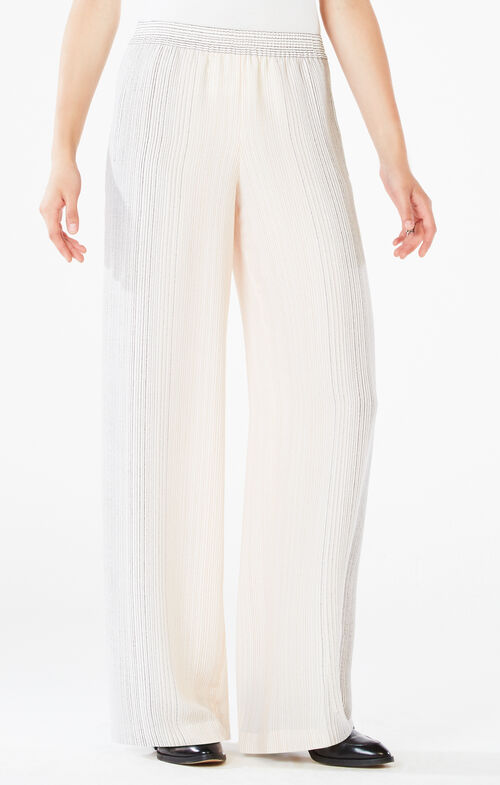 Houston Striped Wide-Leg Pant
