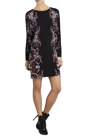 Shelbi Printed Cowl-Back Dress