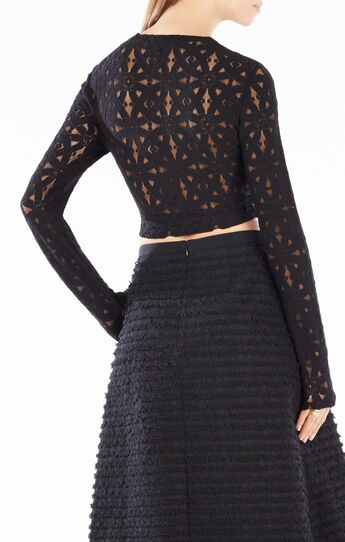 Taelor Twisted Lace Crop Top