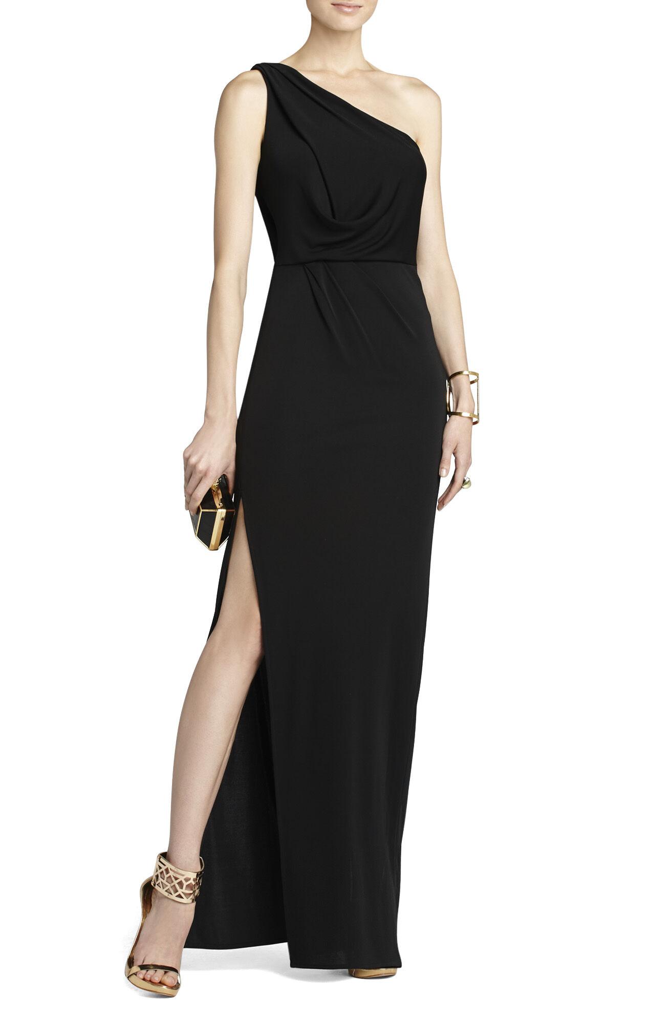 BCBGMAXAZRIA Snejana One-Shoulder Evening Gown | BCBG.com