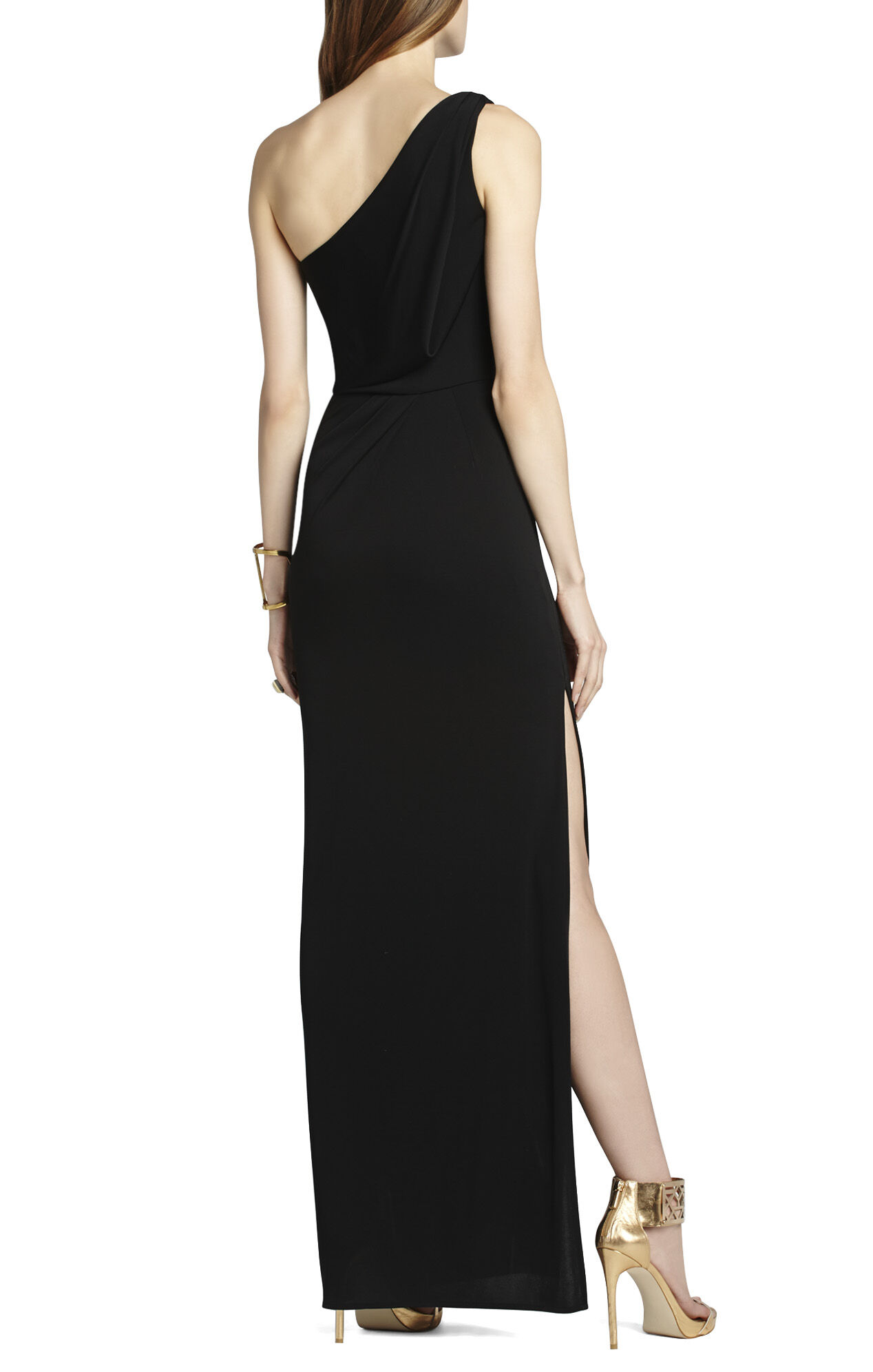 Snejana One-Shoulder Evening Gown