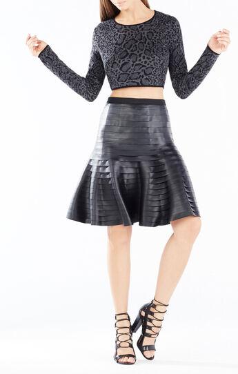 Haydee Ocelot Jacquard Cropped Sweater