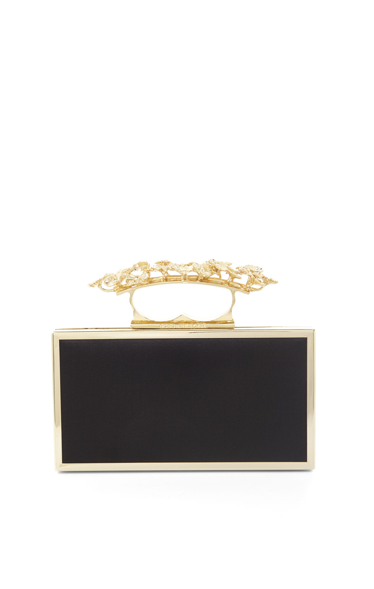 Zoe Floral Filigree Satin Clutch
