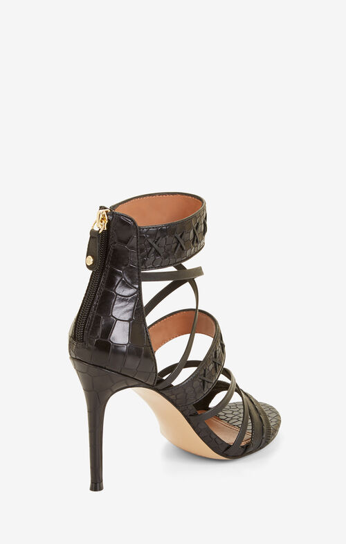 Sylvana Embossed Leather Sandal