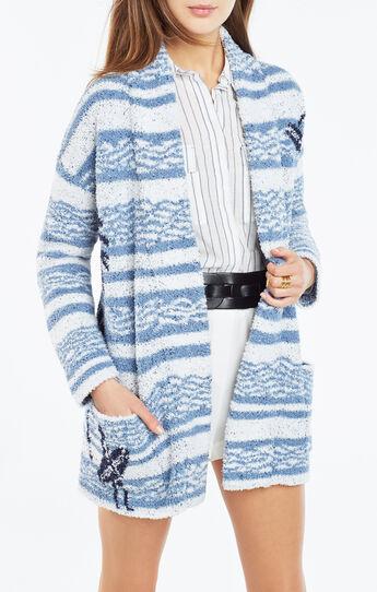 Annia Surf Knit Jacquard Cardigan