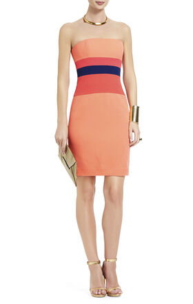Reesie Strapless Color-Blocked Dress