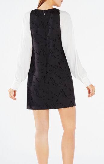 Shayna Textured Jacquard Dress