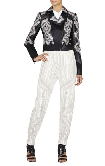 Abel Geometric Sequin Moto Jacket