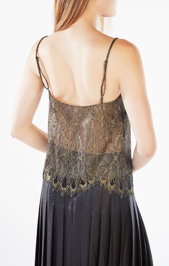 Mady Metallic Lace Camisole Top