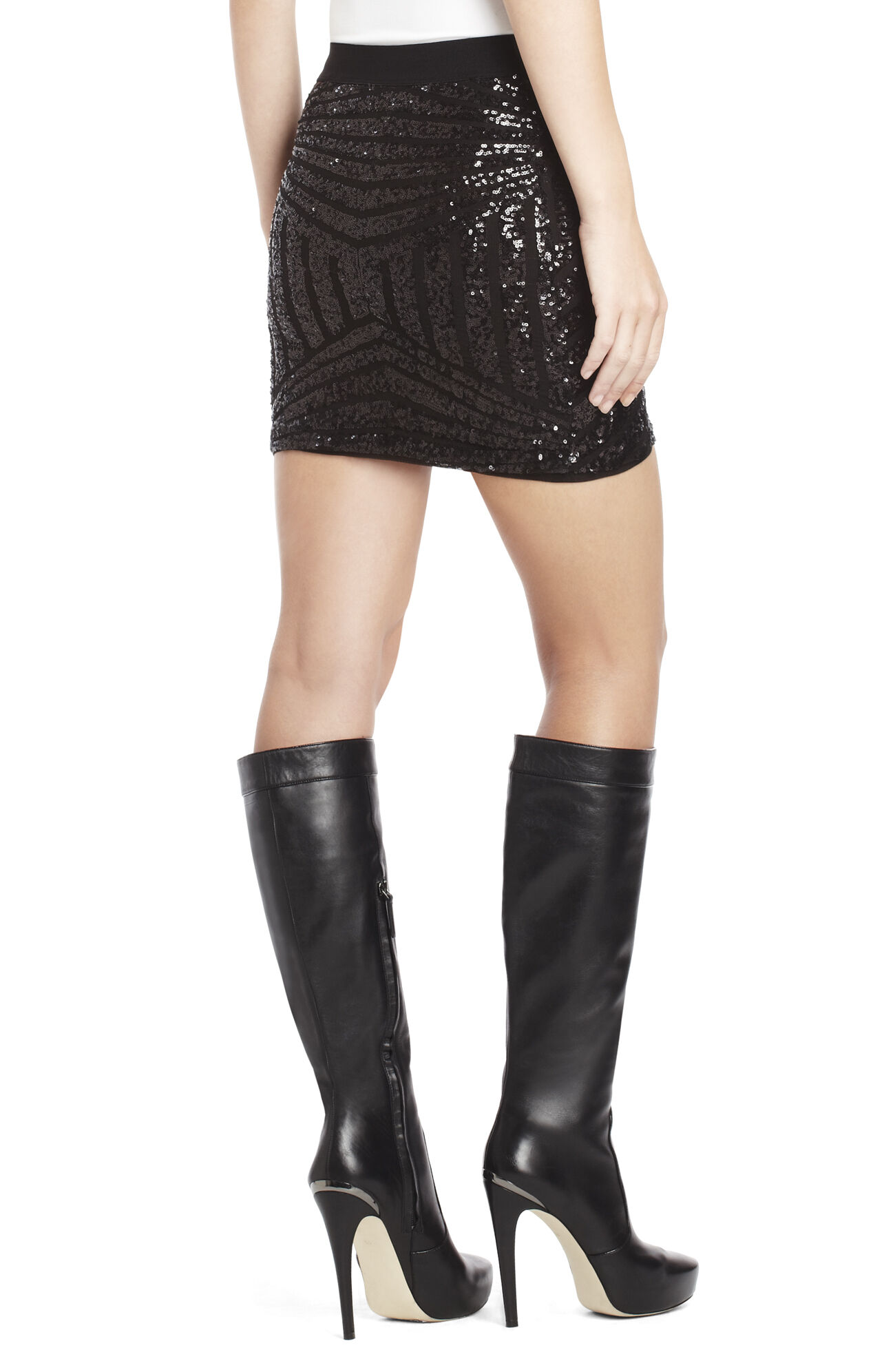 Paxton Sequined Miniskirt