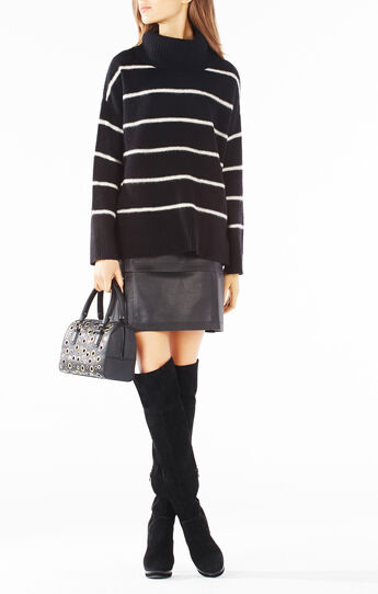 Ryna Wool Turtleneck Striped Sweater