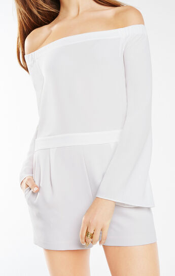 Georgie Off-The-Shoulder Romper