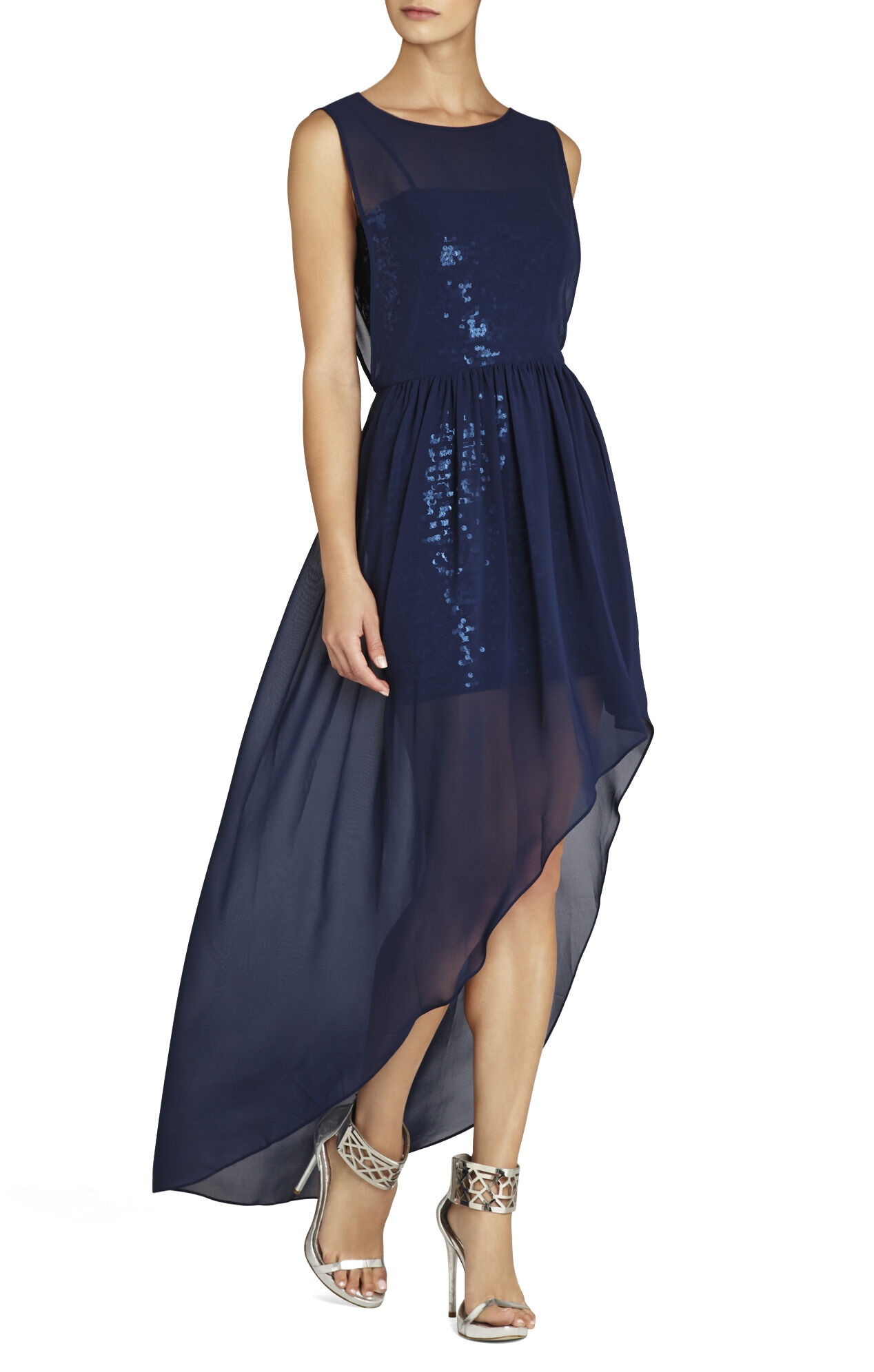 Katrine Sequins Chiffon Dress
