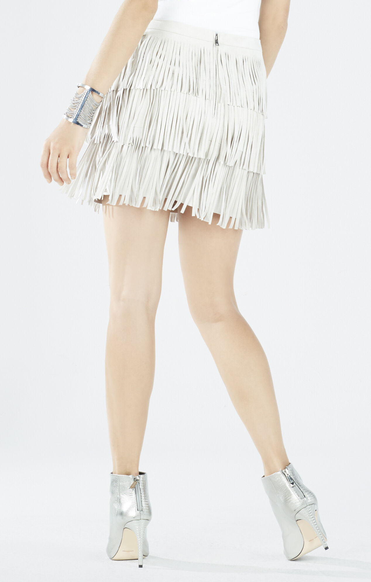 Lotti Faux-Suede Fringe Miniskirt