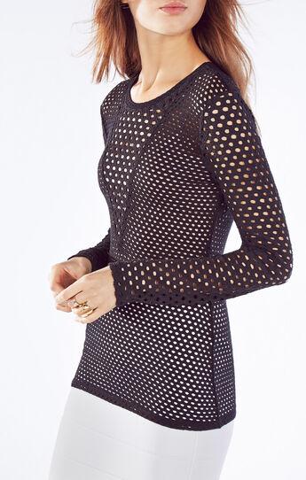 Elain Long-Sleeve Lace Top