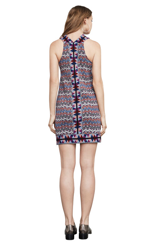 Tesa Jacquard Halter Dress