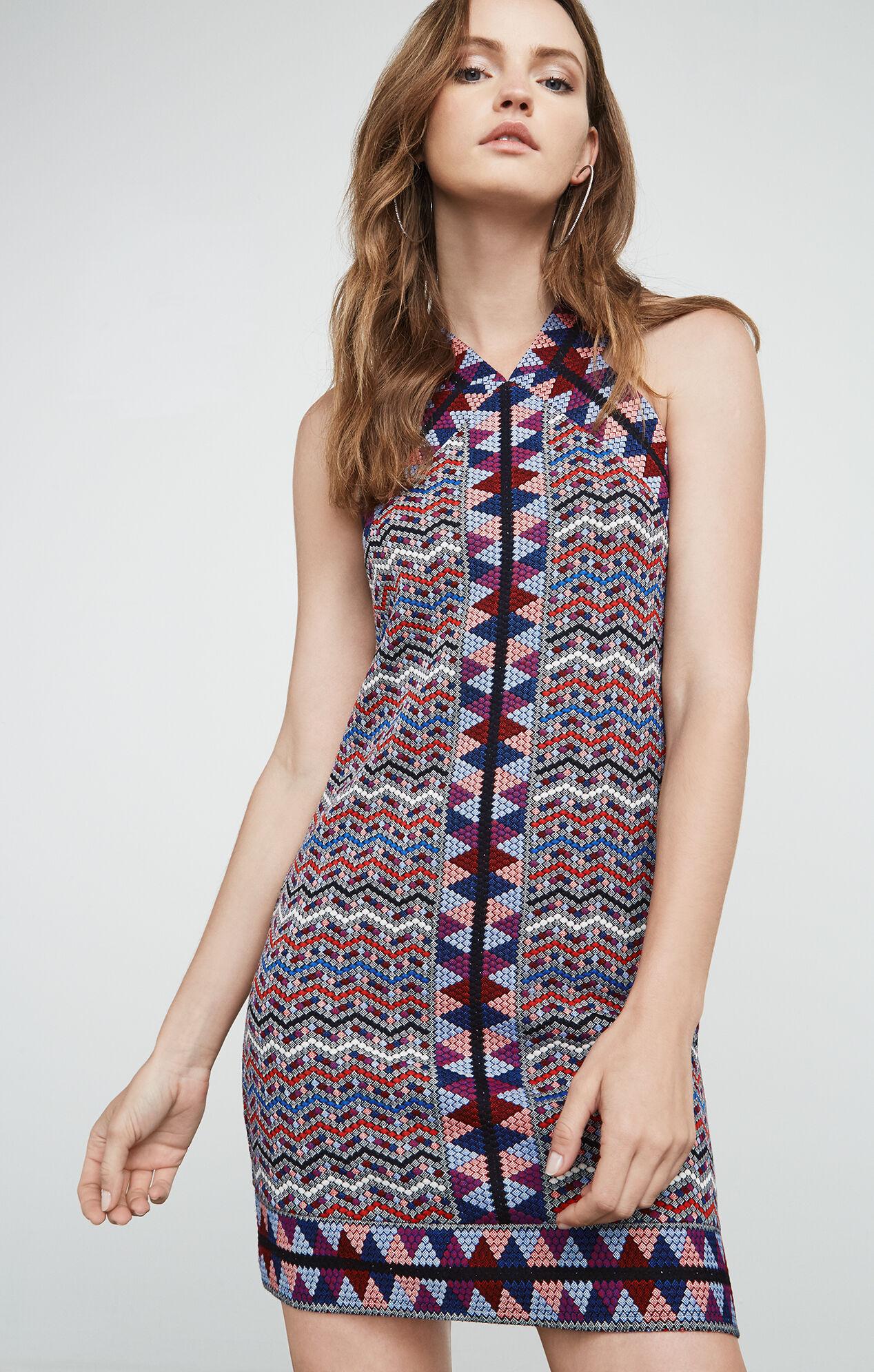 Tesa Jacquard Halter Dress