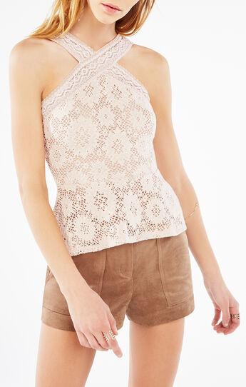 Annica Crochet Lace Peplum Top