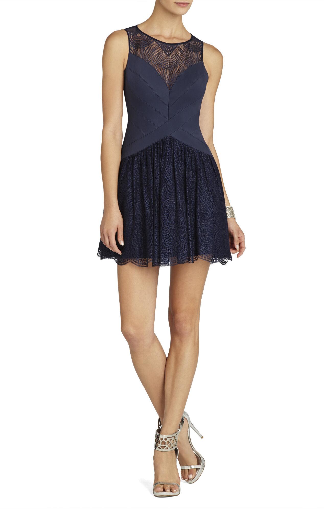 Sophiana Bandage And Lace A-Line Dress